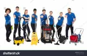 stock-photo-smiling-multiracial-janitors-gesturing-thumbs-up-over-white-background-661585723