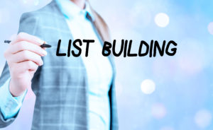 Conceptual hand writing showing List Building. Business photo showcasing database of showing you can contact with your marketing message.